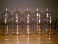 12 X EMPTY PLASTIC VICTORIAN SWEET CANDY JAR (6 Large 6 small)