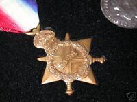 Frame for WW1 British War & Victory Medals & Memorial Plaque Impressed display