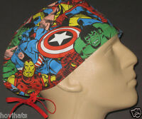 MARVEL COMICS AVENGERS COLLAGE SCRUB HAT / FREE CUSTOM SIZING IF REQUESTED