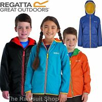 REGATTA LAGOONA KIDS REVERSIBLE JACKET FLEECE BACKED WATERPROOF GIRLS BOYS COAT