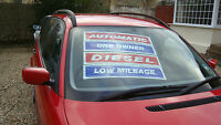 car sales selfcling  window screen stickers displays and slogans