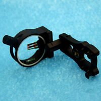 0.029'' 3 Pin Fiber Optic Arrow Bow Sight fit Compound Bow Archery Hunting Peep