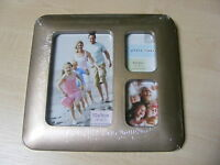 """PEWTER MULTI APERTURE PICTURE COLLAGE PHOTO FRAME - 1 x 4""""x6"""" + 2 x 2""""x3"""" - NEW"""