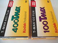 Film 120 pellicules noir et blanc Kodak T Max 100 400 asa iso Lot 5 de chaque