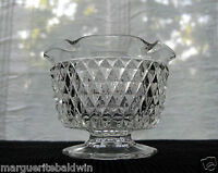 Indiana Glass Clear Diamond Point Taper Candle Holder