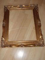Cadre Montparnasse 47 x 36  en bois stuc sculpté patiné doré tableau pour miroir