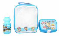 Kids Character School Insulated Lunch Box Sandwich Bag Set And Bottle