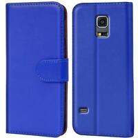 Book Case Samsung Galaxy S5 Neo Hülle Tasche Flip Cover Handy Schutz in Blau