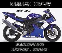Yamaha YZF-R1 R1 YZFR1000 Maintenance Service Repair Manual 1998 1999 2000 2001