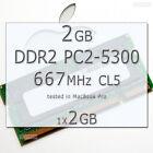 1x2GB Ram APPLE Mac MacBook/Pro/mini DDR2 667MHz PC2-5300 SODIMM 200-PIN SDRAM