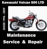 Kawasaki 500 LTD Vulcan EN500 Workshop Maintenance Service Repair Rebuild Manual