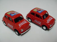 COLLECTABLE COCA COLA CODE COLLECTABLE RED MINI METAL CAR x 2 pcs