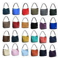 LiaTalia Mini Real Italian Suede Leather Single Strap Hobo Slouch Handbag - Demi