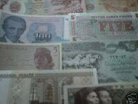 world paper money lot of 12 diff. countries most Unc.