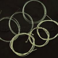 Set 6x Corde Trasparenti Argenti per Chitarra Classica Acustica #1 a #6 Nylon