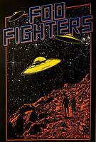 62016 FOO FIGHTERS - UFO FRAMED CANVAS PRINT AU