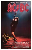 63124 AC/DC LET THERE BE ROCK FRAMED CANVAS PRINT Toile