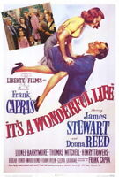 65955 It a Wonderful Life Movie James Stew FRAMED CANVAS PRINT Toile