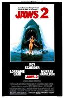 65718 Jaws 2 Movie Roy Scheider, Lorraine Gary FRAMED CANVAS PRINT Toile