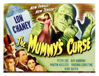 71616 The Mummy Curse Movie Lon Chaney Jr FRAMED CANVAS PRINT Toile