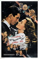 72424 IT'S A WONDERFUL LIFE Movie 1942 Christmas FRAMED CANVAS PRINT Toile