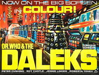 72325 DR. WHO AND THE DALEKS Movie 1965 FRAMED CANVAS PRINT Toile