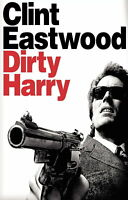 72589 DIRTY HARRY Movie Clint Eastwood RARE FRAMED CANVAS PRINT Toile