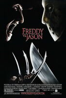 72838 Freddy vs. Jason 2003 Slasher Thriller Movie FRAMED CANVAS PRINT Toile