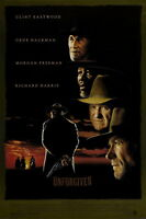 72783 UNFORGIVEN Movie RARE Clint Eastwood Western FRAMED CANVAS PRINT Toile