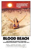 72684 BLOOD BEACH Movie 1980 Horror Sci-Fi FRAMED CANVAS PRINT Toile