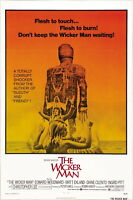 73124 The Wicker Man Movie 1973 Thriller Mystery FRAMED CANVAS PRINT Toile