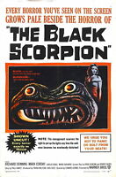 73145 THE BLACK SCORPION Movie 1957 Sci-Fi Classic FRAMED CANVAS PRINT Toile