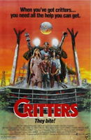 73015 CRITTERS Sci Fi 80's Aliens Polish Cult Classic FRAMED CANVAS PRINT Toile