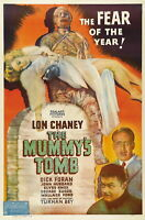 73235 THE MUMMYS TOMB Movie RARE Lon Chaney FRAMED CANVAS PRINT Toile