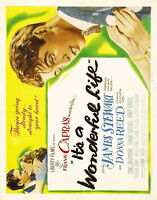 73453 IT'S A WONDERFUL LIFE 1942 Jimmy Stew Christmas FRAMED CANVAS PRINT Toile