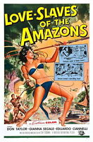 73534 Love Slaves of the Amazons 1957 Adventure FRAMED CANVAS PRINT Toile