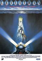 73763 LEVIATHAN Movie RARE Horror Sci-Fi FRAMED CANVAS PRINT Toile