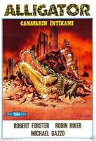73997 ALLIGATOR Movie Horror 80's VHS Monster Rare FRAMED CANVAS PRINT Toile