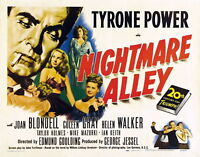 74032 Nightmare Alley Movie 1947 Drama FRAMED CANVAS PRINT Toile