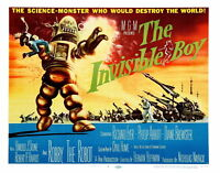 74003 The Invisible Boy Movie 1957 Sci-Fi Adventure FRAMED CANVAS PRINT Toile