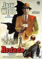 73953 Dragnet Movie 1969 Crime Drama Thriller FRAMED CANVAS PRINT Toile