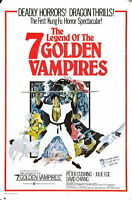 73765 LEGEND OF THE 7 GOLDEN VAMPRIES Movie Kung-Fu FRAMED CANVAS PRINT Toile