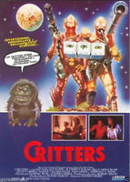 73444 CRITTERS Movie Sci Fi Horror 80's FRAMED CANVAS PRINT Toile