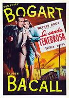 73949 Dark Passage Movie Thriller Drama 1947 FRAMED CANVAS PRINT Toile