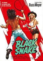 74205 BLACKSNAKE! Movie Russ Meyer FRAMED CANVAS PRINT Toile