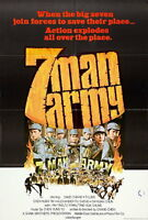 74011 7 Man Army Movie 1976 Kung-Fu Action FRAMED CANVAS PRINT Toile