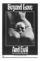74099 Beyond Love and Evil Movie 1971 Drama FRAMED CANVAS PRINT Toile