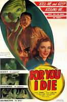 73955 For You I Die Movie 1947 Drama Noir FRAMED CANVAS PRINT Toile