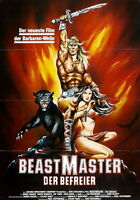 74319 The Beastmaster 1982 Fantasy Action German Tanya FRAMED CANVAS PRINT Toile