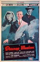 73936 Strange Illusion Movie 1945 Thriller FRAMED CANVAS PRINT Toile